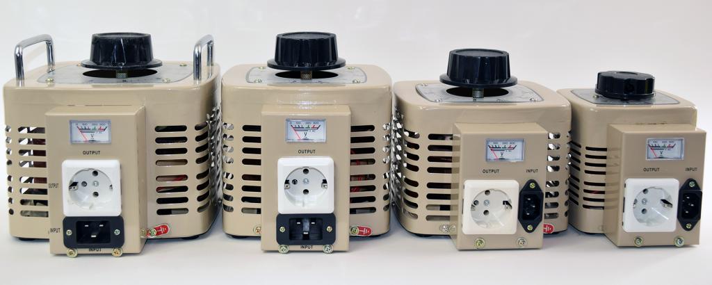Variac regelbare transformator voor wisselspanning